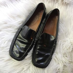Tod's loafers patent leather black with logo